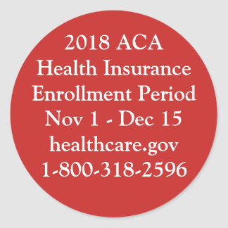 ACA Enrollment Stickers - Red Hot Resistance