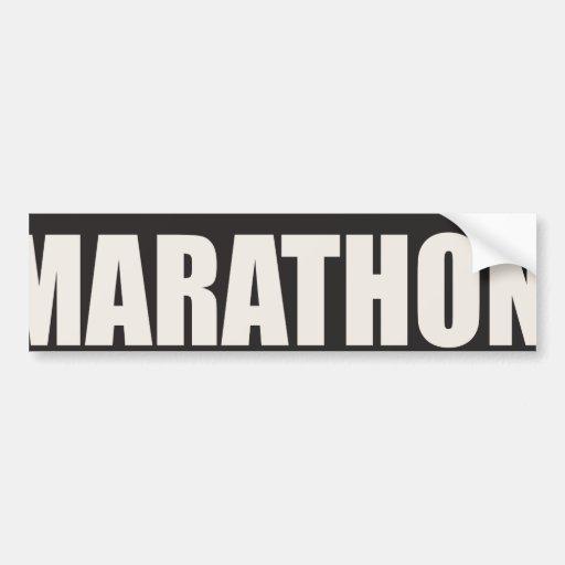 Acabadora del maratón pegatina para auto