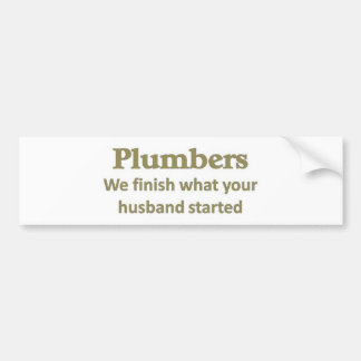 Acabamos lo que comenzó su marido etiqueta de parachoque
