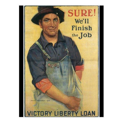 Acabe la Segunda Guerra Mundial del trabajo Postales