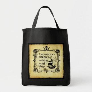 Acabo de querer ser pirata… bolsa tela para la compra