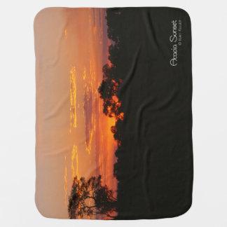 Acacia Sunset Stroller Blanket