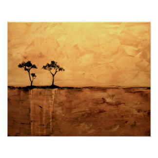 Acacia Tree 16 x 20 by Ben Walker Poster