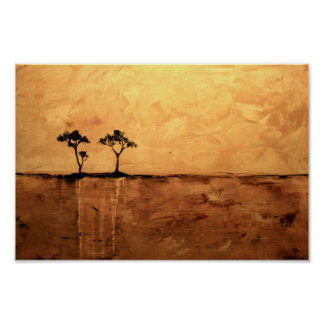 Acacia Trees by Ben Walker Poster
