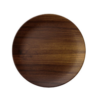 Acacia Wood Grain Porcelain Plate