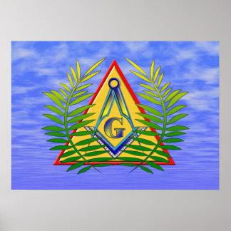 Acacia y la pirámide póster