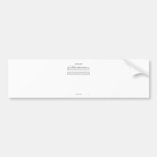 Acacio fate [GM] Bumper Sticker