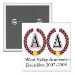 acadec2, West Valley Academic Decathlon 2007-2008 Button