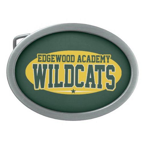 Academia de Edgewood; Gatos monteses Hebillas De Cinturon Ovales
