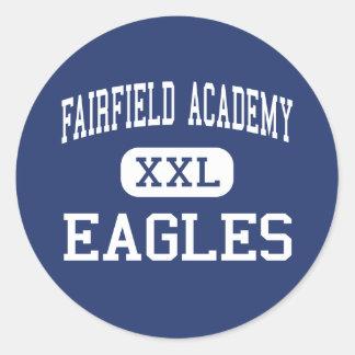 Academia de Fairfield - Eagles - alta - Thornville Pegatina Redonda