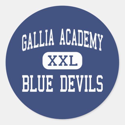 Academia de Gallia - diablos azules - alta - Pegatina Redonda