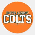 Academia de Hooper; Potros Etiquetas Redondas