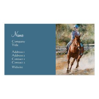 Academia de la equitación de los establos del entr tarjetas de visita