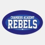 Academia de las cámaras; Rebeldes Pegatinas Ovaladas Personalizadas