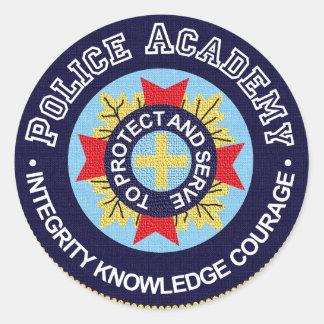 Academia de policía pegatina redonda