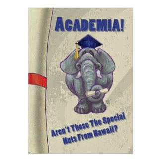 Academia Scroll Poster