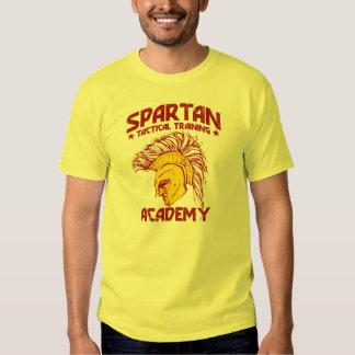 Academia táctica espartano del entrenamiento playeras