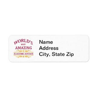 Academic Advisor Label