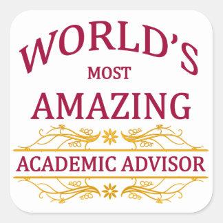 Academic Advisor Square Sticker