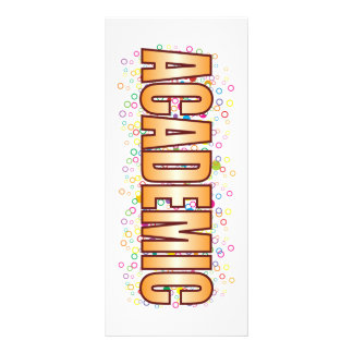 Academic Bubble Tag Personalized Rack Card