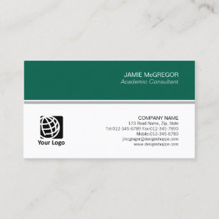 Academic business cards zazzle academic consultant simple minimal professional business card colourmoves