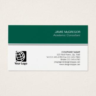 Academic Consultant Simple Minimal Professional Business Card