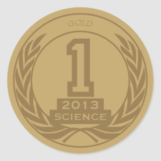 Academic Gold Medal Classic Round Sticker