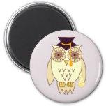 Academic Owl 2 Inch Round Magnet