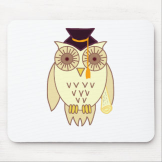 Academic Owl Mouse Pad