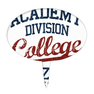 academy division college cake topper