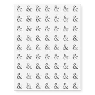 Academy Engraved Ampersand Black Temporary Tattoos