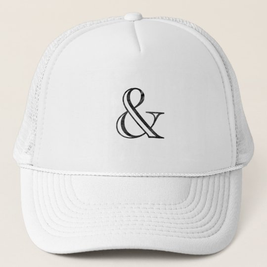 a0f4bc56209 Academy Engraved Ampersand Black Trucker Hat