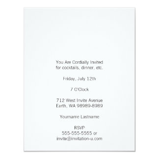 Academy Engraved Ampersand White Card