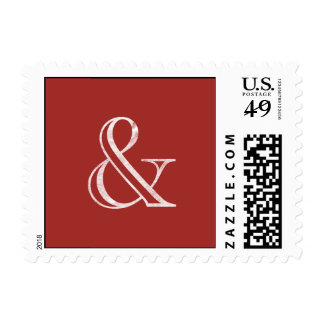 Academy Engraved Ampersand White Postage