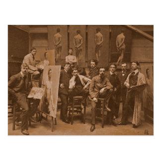 Academy of Antwerpen 1907 Post Cards