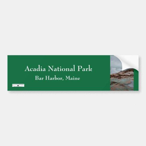 Acadia Bumpersticker - 2 Etiqueta De Parachoque