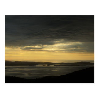 Acadia Cadillac Mountain Sunrise Storm Postcard