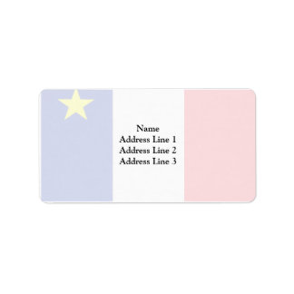 Acadia flag address label
