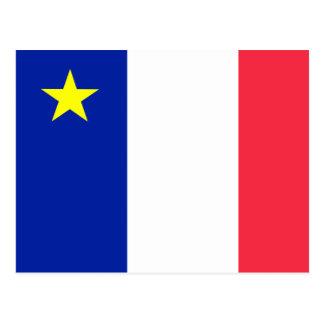 Acadia flag postcard