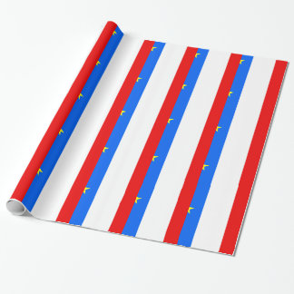 Acadia Flag Wrapping Paper