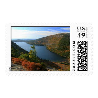 Acadia Jordan Pond from North Bubble Autumn Postage Stamps