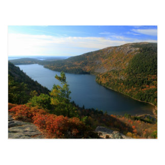 Acadia Jordan Pond from North Bubble in Autumn Postcard