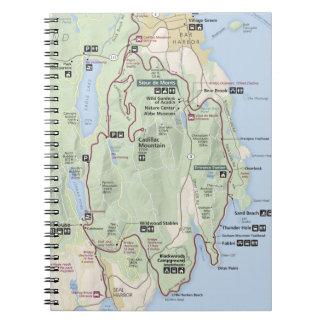 Acadia map notebook