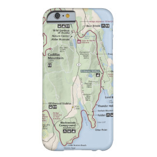 Acadia map phone case