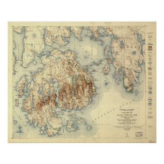 Acadia National Park 1931 Topographic Map Posters