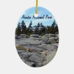 Acadia National Park, Maine Double-Sided Oval Ceramic Christmas Ornament