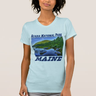 Acadia National Park - Maine Ladies Fitted T-shirt