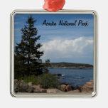 Acadia National Park, Maine Square Metal Christmas Ornament