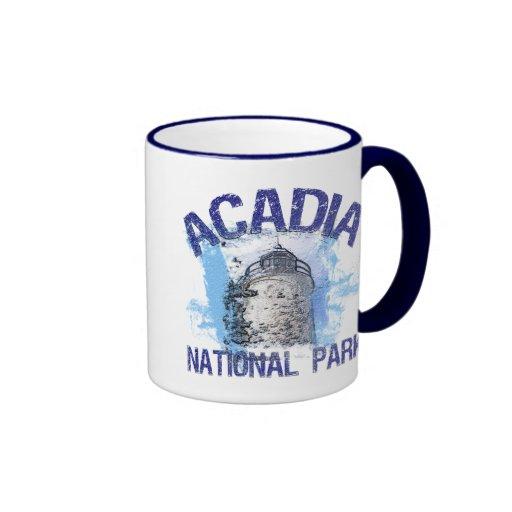 Acadia National Park Ringer Coffee Mug