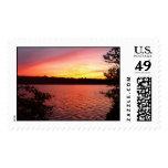 acadia national park sunset postage stamp